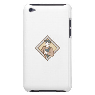 Mechanic Holding Wrench Crest Mono Line Barely There iPod Case