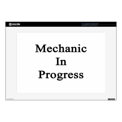 """Mechanic In Progress. Skins For 15"""" Laptops"""