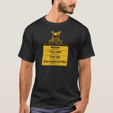 scorpionagency Mechanic labor rates - Caution T-Shirt