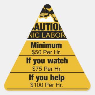 Mechanic labor rates - Caution Triangle Sticker