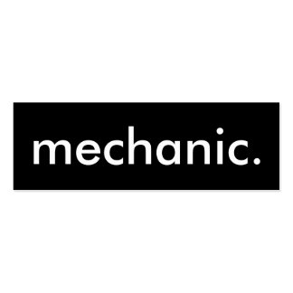 mechanic. loyalty punch card
