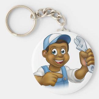 Mechanic or Plumber Handyman Keychain