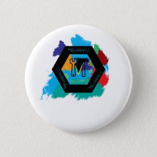 mechanic pinback button