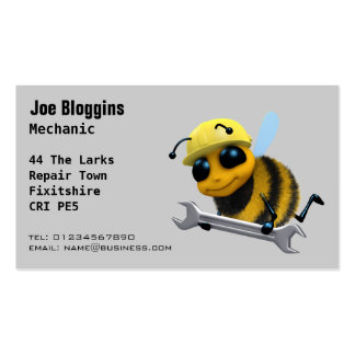 Mechanic, repair and servicing Double-Sided standard business cards (Pack of 100)