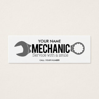 Mechanic - Service with a smile Mini Business Card