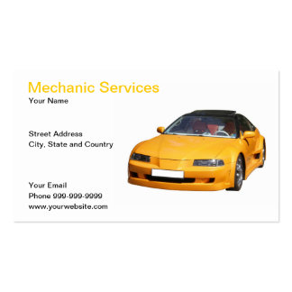 mechanic services Double-Sided standard business cards (Pack of 100)