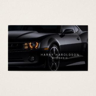 Mechanic Shiny Car Profile Business Card