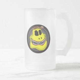 MECHANIC SKULL 2r Frosted Glass Beer Mug