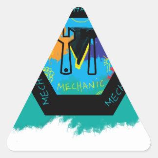 mechanic triangle sticker