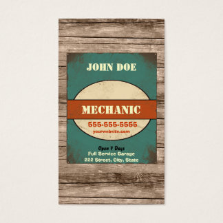 Mechanic Vintage Business Card