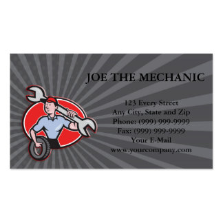 Mechanic With Tire Socket Wrench And Tire Business Card Template
