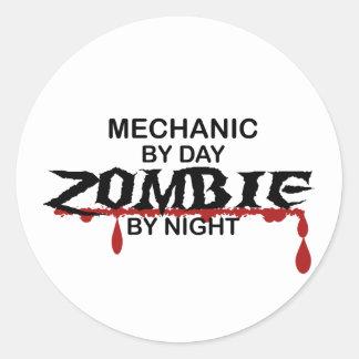Mechanic Zombie Classic Round Sticker