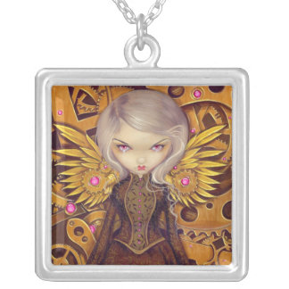Mechanical Angel 2 NECKLACE steampunk fairy