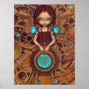 Mechanical Angel I steampunk fairy Art Print print