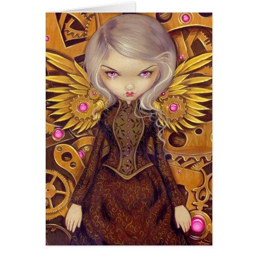 """Mechanical Angel II"" Greeting Card"
