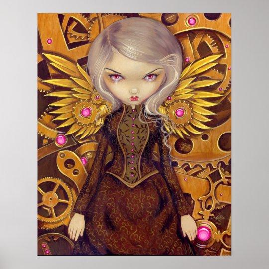 Mechanical Angel II steampunk fairy Art Print