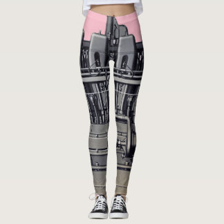 Mechanical Antique  Machinery Machine Gas Engine Leggings