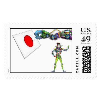 Mechanical Arm Flag of Japan Postage