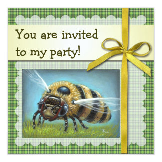Mechanical Bee: Lift-off 5.25x5.25 Square Paper Invitation Card