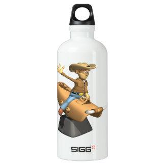 Mechanical Bull Aluminum Water Bottle