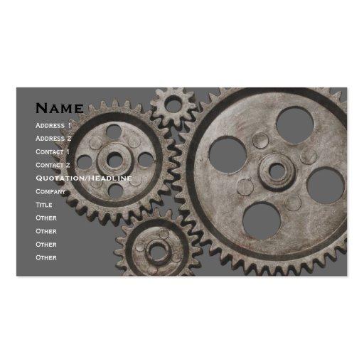 mechanical business card