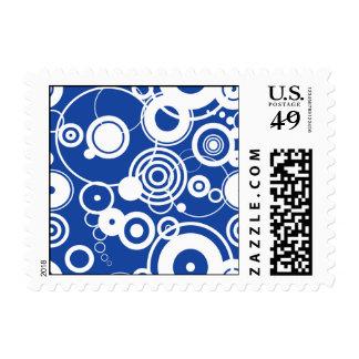 Mechanical circles pattern postage