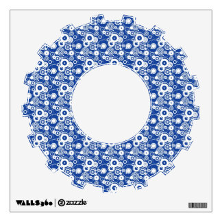 Mechanical circles pattern wall decal