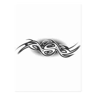 Mechanical Curving Design Postcard