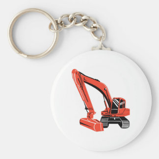 mechanical digger construction excavator keychains