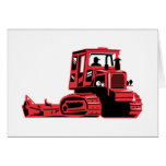 mechanical digger construction excavator tractor card
