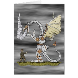 Mechanical Dragon Card