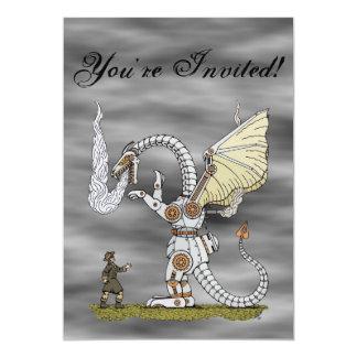 Mechanical Dragon Invitation