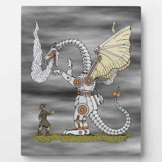 Mechanical Dragon Plaque