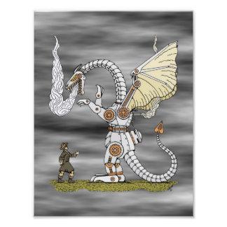 Mechanical Dragon Print Art Photo