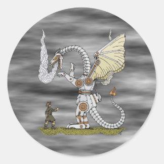 Mechanical Dragon Stickers
