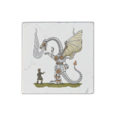 Mechanical Dragon Stone Magnet at Zazzle