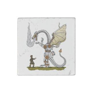 Mechanical Dragon Stone Magnet