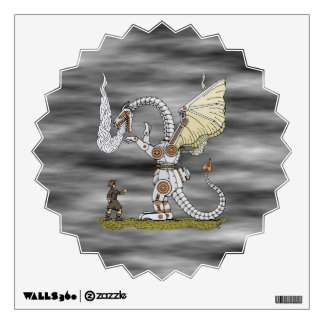 Mechanical Dragon Wall Decal