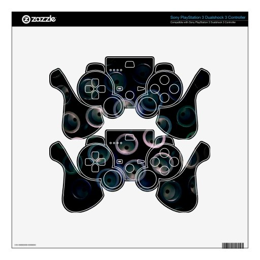 Mechanical Dragonfly Eyes PS3 Controller Skin