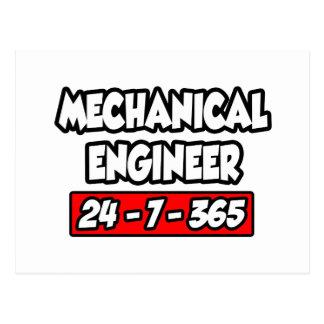 Mechanical Engineer 24-7-365 Postcard