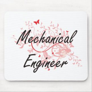 Mechanical Engineer Artistic Job Design with Butte Mouse Pad