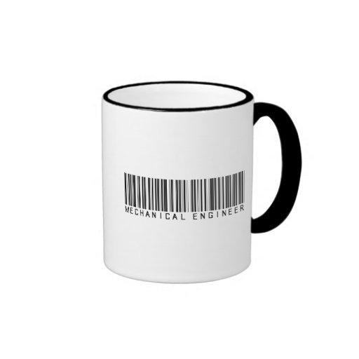 Mechanical Engineer Bar Code Ringer Coffee Mug