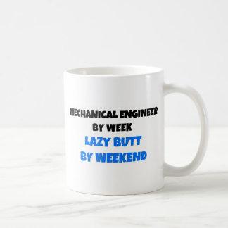 Mechanical Engineer by Week Lazy Butt by Weekend Classic White Coffee Mug