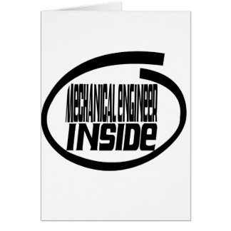 Mechanical engineer Inside Cards