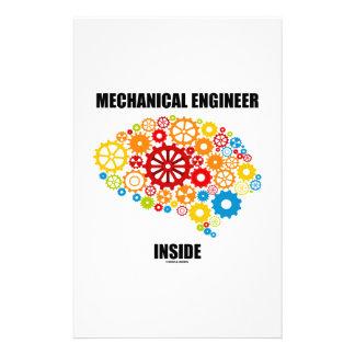 Mechanical Engineer Inside (Gears Brain) Stationery