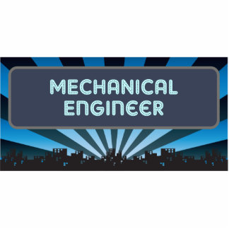 Mechanical Engineer Marquee Photo Sculptures