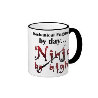 Mechanical Engineer Ninja Ringer Mug
