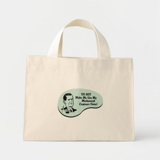 Mechanical Engineer Voice Canvas Bags