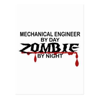 Mechanical Engineer Zombie Postcard
