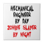 Mechanical Engineer Zombie Slayer Small Square Tile